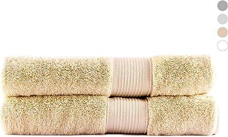 QUAGGY Home. Toalla de baño. Premium. 100% algodón. Tacto Ultrasuave. Secado rápido (Grande 70x140cm, Buff Beige): Amazon.es: Hogar