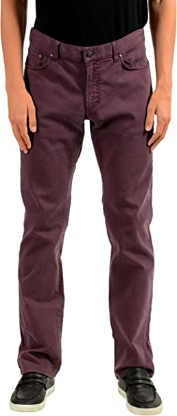 Versace Collection Trend Mens Purple Straight Leg Classic Jeans Size US 34 IT 50
