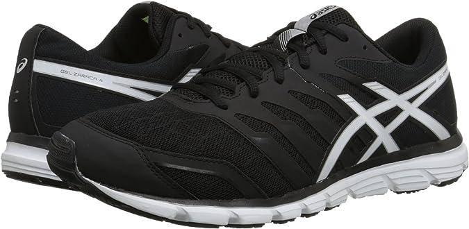 Zapato de running Zaraca 4 para hombre, negro / blanco / plateado, 9 m US: Asics: Amazon.es: Zapatos y complementos