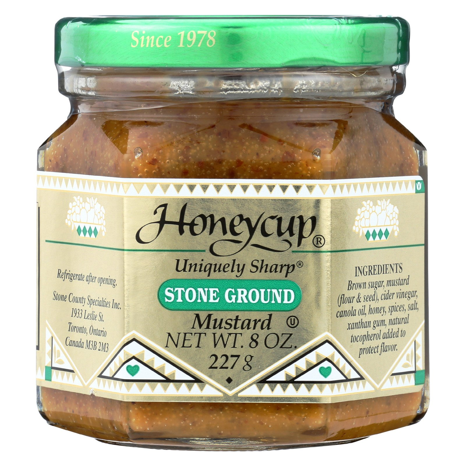 Honeycup Mustard - Stone Ground - Case of 6 - 8 oz.