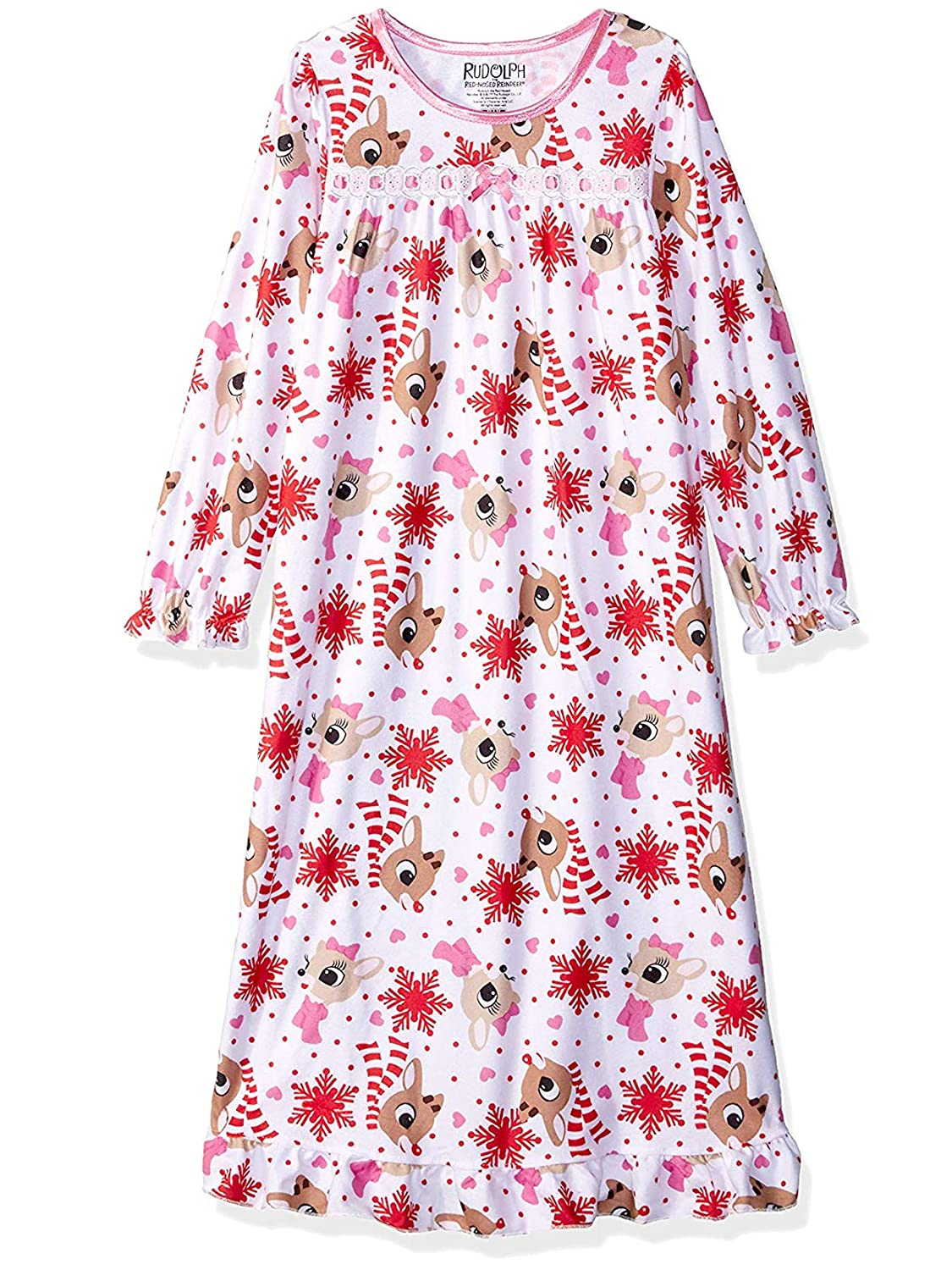 Rudolph The Red-Nosed Reindeer Girls Christmas Holiday Granny Gown Nightgown manufacturer
