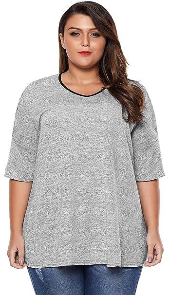 ... Cordones Lazada Hombros al Descubierto Descubiertos Aire Blusón Blusa Shirt Camisa T-Shirt Camiseta Playera tee Top Gris: Amazon.es: Ropa y accesorios