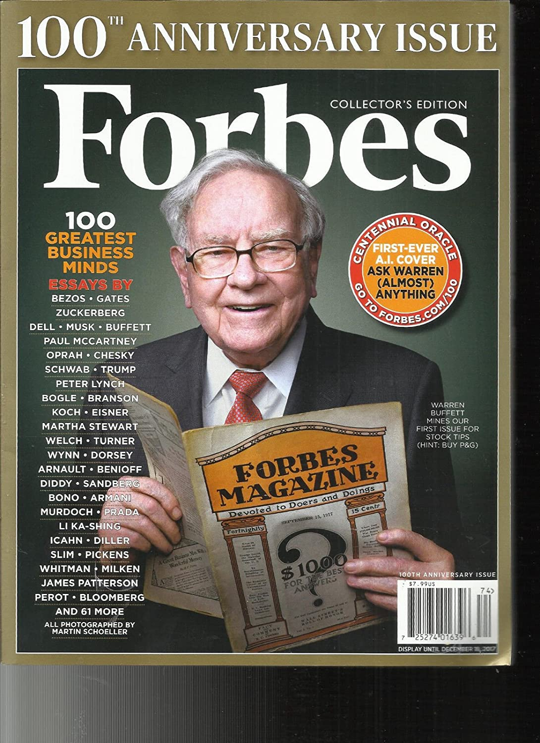 Forbes Magazine (September 28, 2017) 100th Anniversary Issue Warren Buffet Cover s3457
