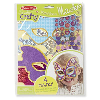 Melissa & Doug Simply Crafty Marvelous Masks Activity Kit (Makes 4 Masks, Great Gift for Girls and Boys - Best for 4, 5, 6, 7, 8 Year Olds and Up): Melissa & Doug: Toys & Games