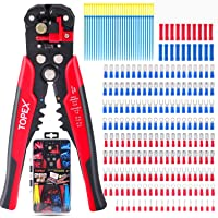 Topex 260-Piece Wire Stripper Self-Adjustable Crimper Plier Set Terminals Wire Connectors