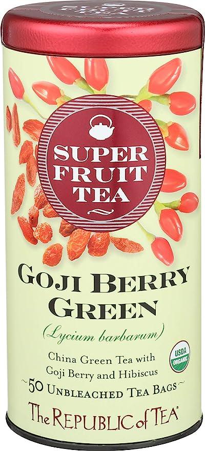Amazon Com The Republic Of Tea Organic Goji Berry Green
