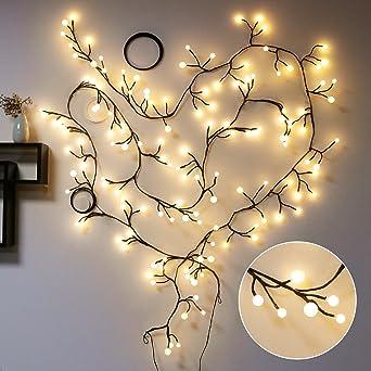 Lichterketten Innen, TOFU LED Lichterkette Kugeln Wasserdicht, Warmweiße  Weihnachtsbeleuchtung, Romantische Deko Für Weihnachten