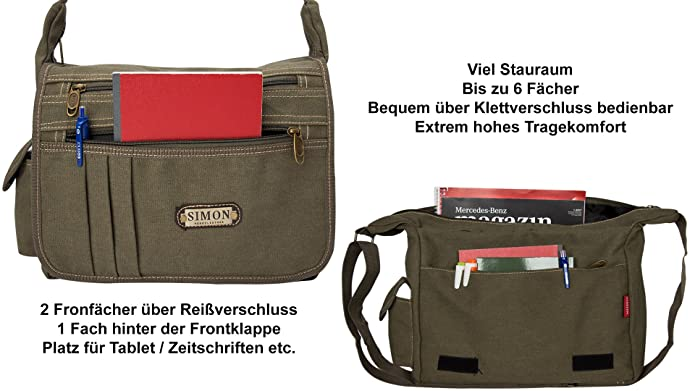 4c2e14f38aada Halal-Wear Umhängetasche Herren Schultertasche Schultaschen Damen Herren  Laptop Notebook- Tasche Messenger Bag ideal für Outdoor Freizeit Sport und  andere ...