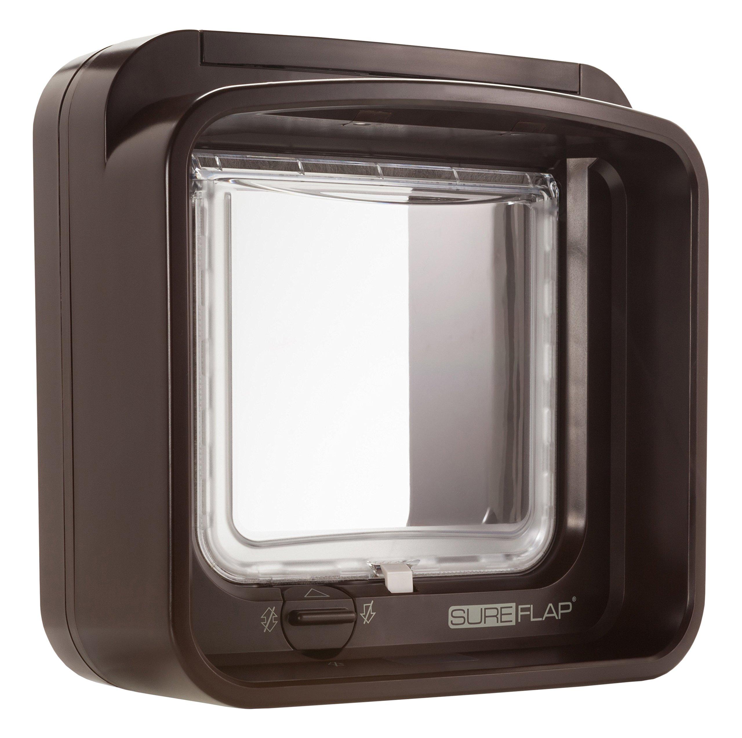 SureFlap DualScan Microchip Cat Door, Brown