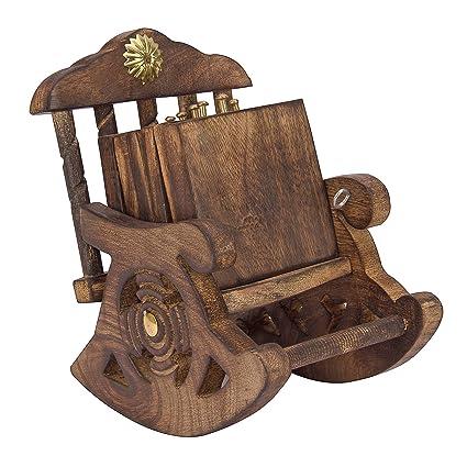 Sensational Buy Akb Store Wooden Rocking Chair Stand Drink Coaster Ibusinesslaw Wood Chair Design Ideas Ibusinesslaworg
