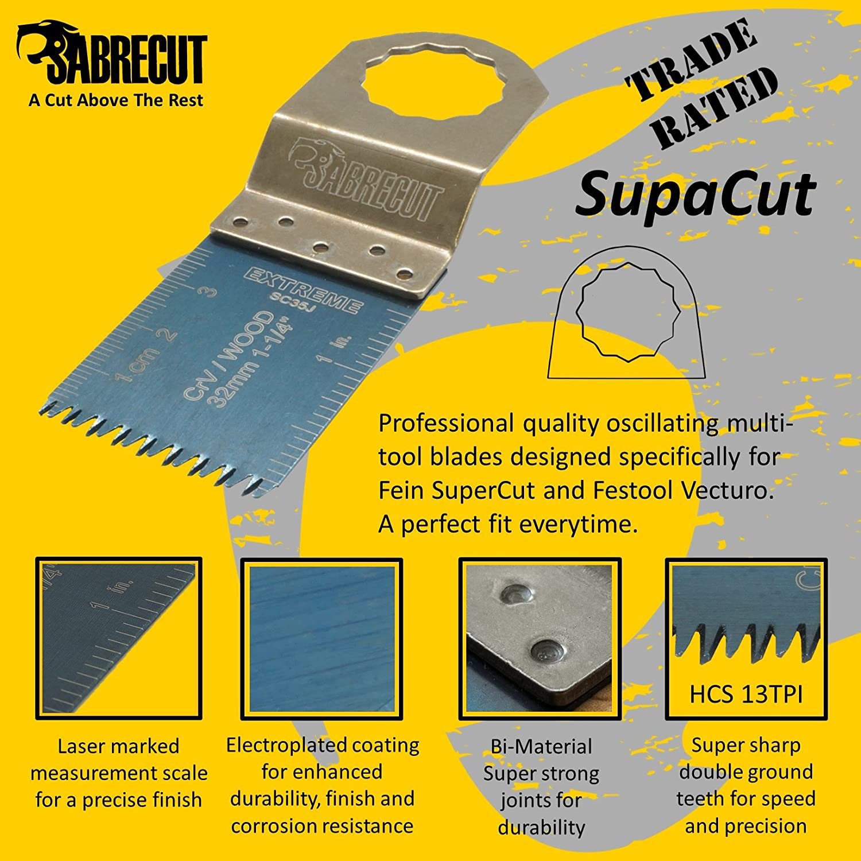 15 x SabreCut SCK15A r/ápido para Mix hojas para Fein Supercut y Festool Vecturo multiherramienta accesorios