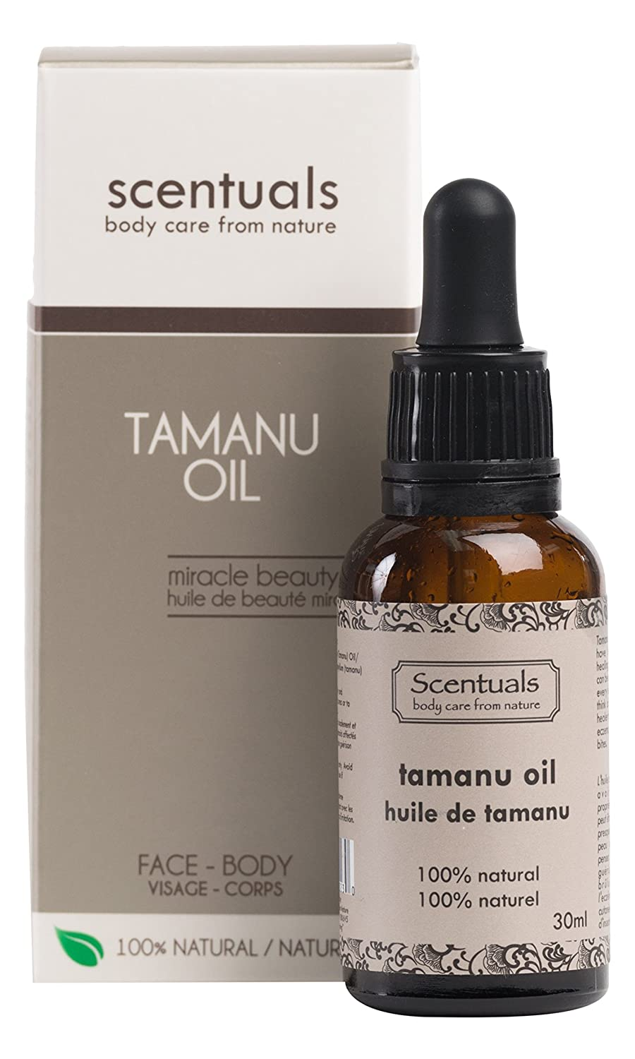 Scentuals Pure Tamanu Oil 100-Percent Natural Beauty Oil, 30 Milliliters