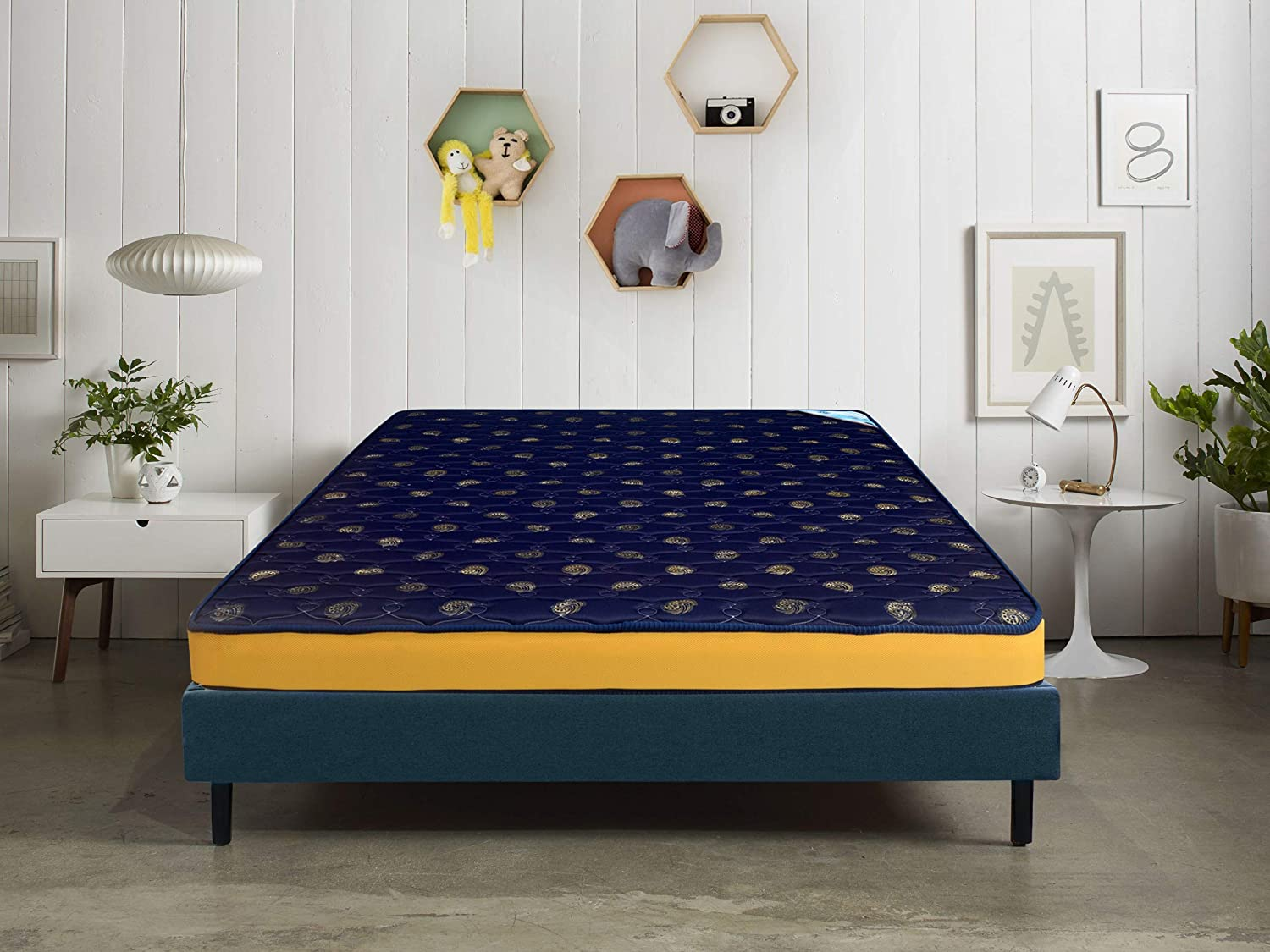 Nilkamal 5-inch Double Size Coir Mattress (Blue, 75x60x5)
