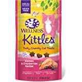 Wellness Kittles Grain-Free Salmon & Cranberries Recipe Crunchy Cat Treats, 2 Ounce Bag
