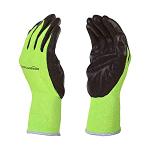 AmazonBasics Working Gloves with Touchscreen, Green, L