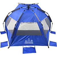 Pop Up Tent/Beach Tent/Sun Tent/Sun Shelter/Family Tent/Outdoor Tent/Camping Tent/Summer Tent (fits 3-4 Persons)
