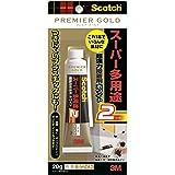 スコッチ 超強力接着剤 プレミアゴールド スーパー多用途2 ホワイト 20g