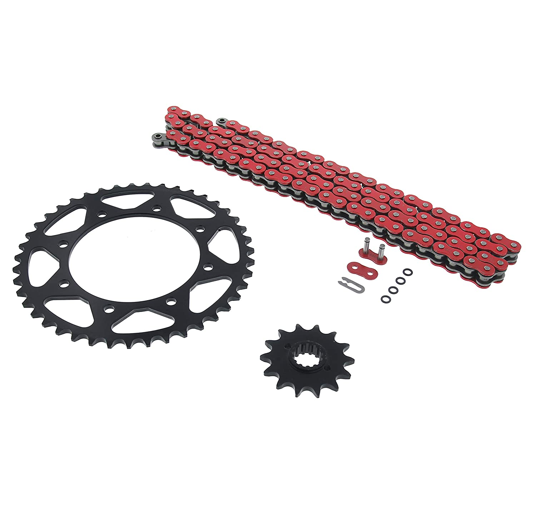 110L Red Non O Ring Chain /& Sprocket Black 14//43 Kawasaki KL650 KLR650 1990-2014