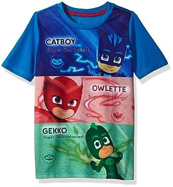PJ Masks Toddler Boys Short Sleeve Tee Shirt, Multi, ...