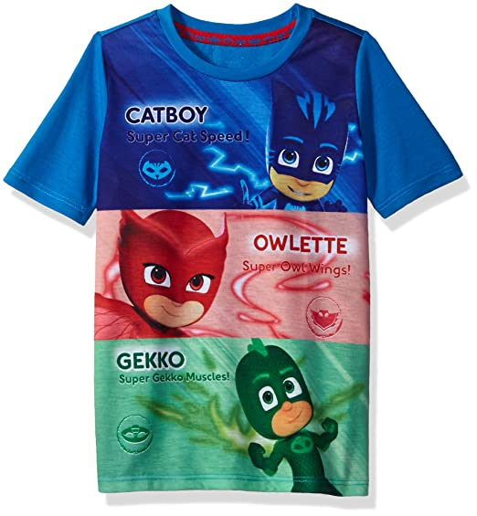 dc18bae6 Amazon.com: PJ Masks Boys Graphic T-shirt: Clothing