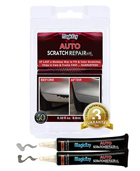 Auto Paint Touch Up >> Magicezy Auto Scratch Repairezy Repair Car Paint Chips In Seconds Precise Color Match Touch Up Filler No Messy Drips Silver Metallic Kit