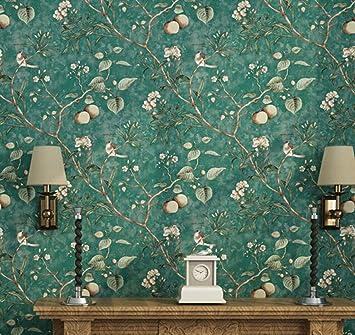 ccfeng pvc tapete vintage alten vogel tapete muster schlafzimmer wohnzimmer hintergrund vliestapete pastoralen tapeten high - Tapeten Muster