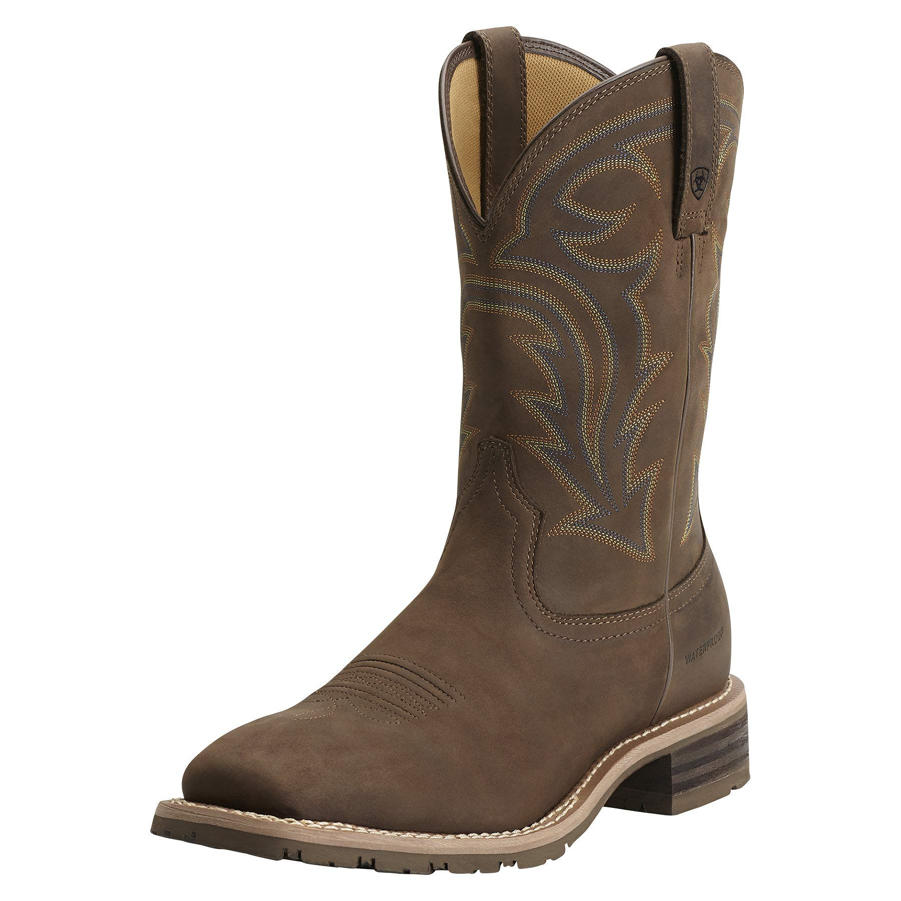 Ariat Men's Hybrid Rancher H2O Western Cowboy Boot, Oily Distressed Brown, 10.5 M US by ARIAT
