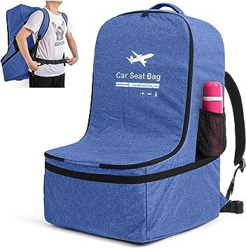 Azul Se adapta a la mayor/ía de los silla de Coche Bolsa de Transporte para Silla de Coche Luxja Bolsa para Silla de Coche