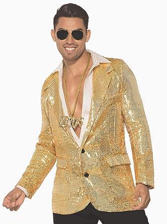 bc08e2974 Amazon.com: Forum Novelties Men's Disco Sequin Blazer-Gold W/Pockets ...