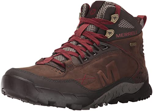 biggest selection moderate price women Merrell Men's Annex Trak Mid Waterproof Hiking Boot, Clay ...