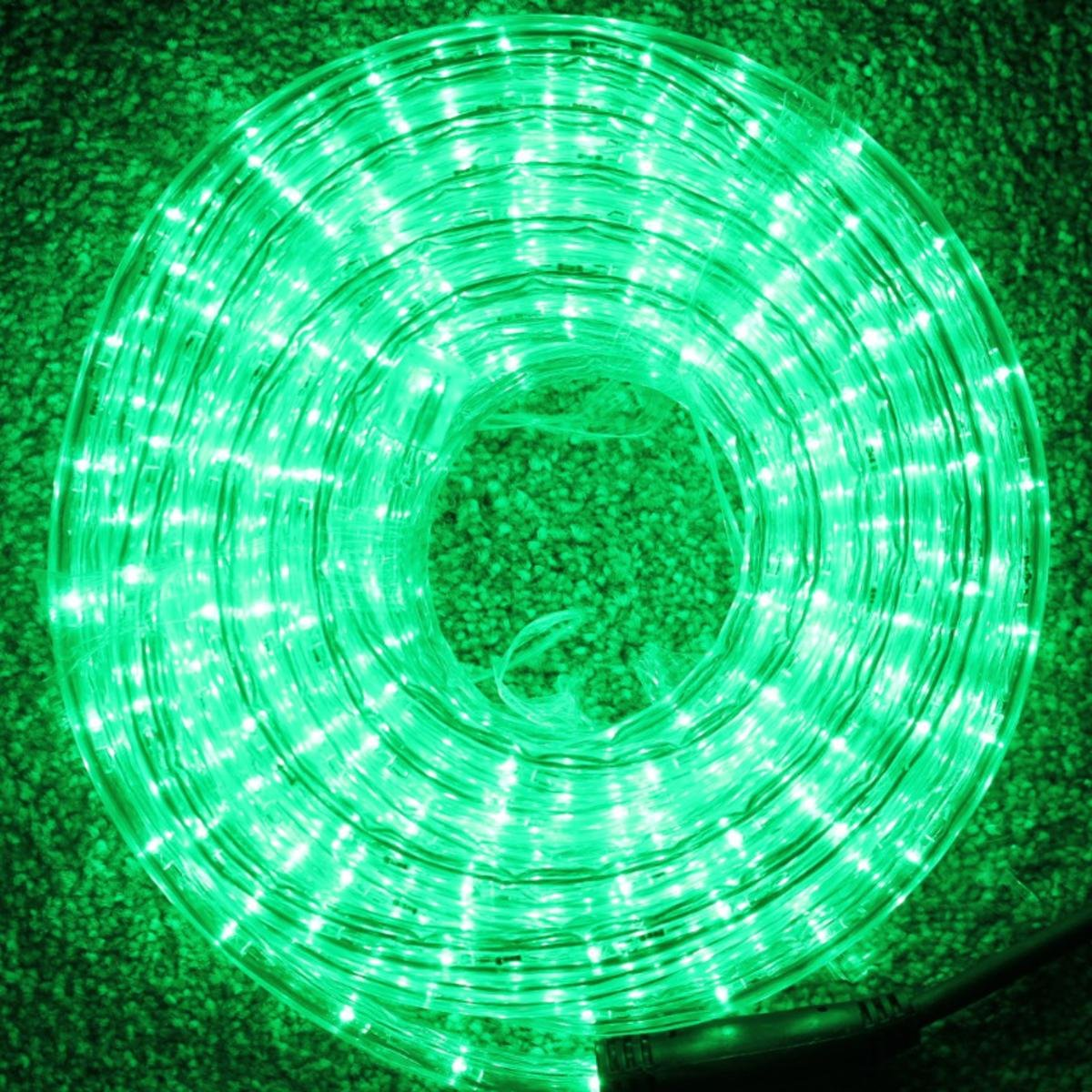 10 Metre Multi Function Green LED Rope Light Ideal for Christmas Displays UK Christmas World