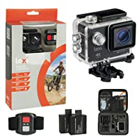"Underwater Action Camera. Ultimate Action Cam Bundle; Video Camcorder with Wifi, Remote Control, 2.0"" LCD Screen, 170° Wide Angle Lens, 2x 1050 mAh Rechargeable Batteries and Full Mounting Accessories Kit."