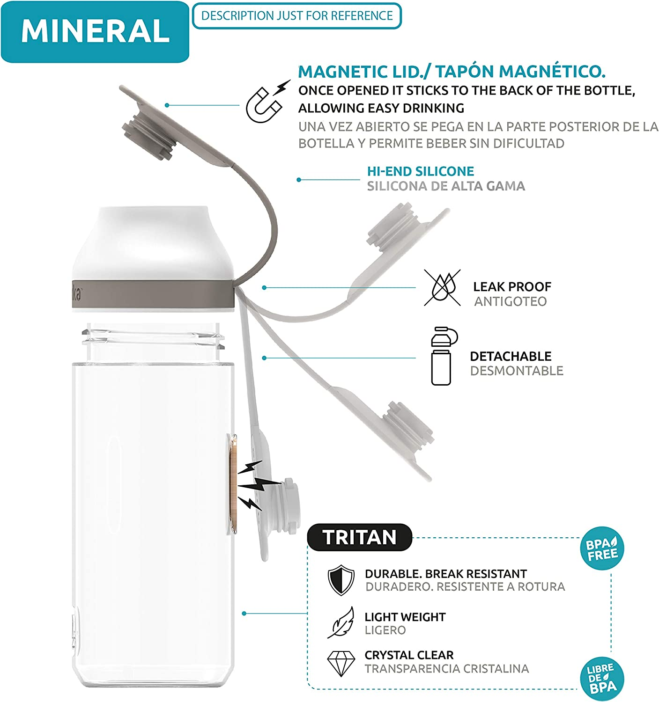 Quokka Tritan Water Bottle Mineral Collection
