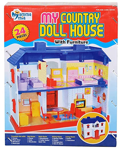 Buy Clastik Deluxe My Country Doll House Set Of 24 Pcs Online At