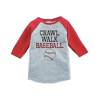 7 ate 9 Apparel Kids Crawl Walk Baseball Red Baseball Tee