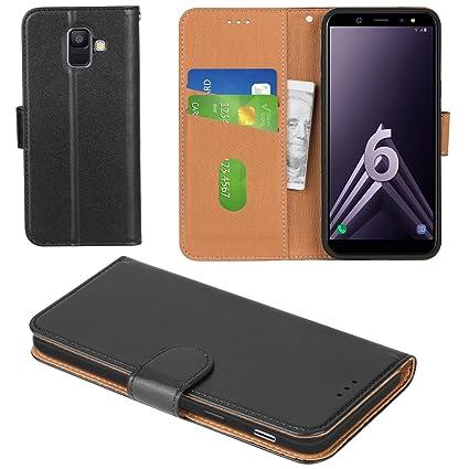 Amazon.com: Aicoco Galaxy A6 2018 - Funda de piel con tapa ...