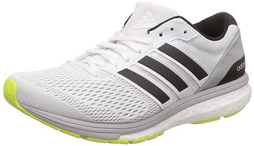 b33fb4639d5 Adidas Men s Adizero Boston 6 Wide Ftwwht Cblack Syello Running Shoes - 4 UK