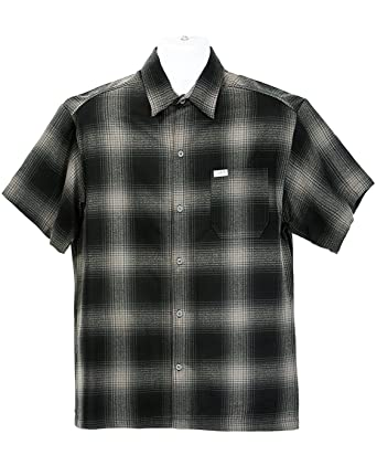 669cdbe07af Amazon.com  ALLBrand Men s Short Sleeve Checkered Plaid Button Down Flannel  Shirt  Clothing