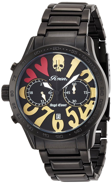 Angel Clover Herren Unisex-Uhr Roen Zusammenarbeit Chronograph Datum LC42ROBBGD