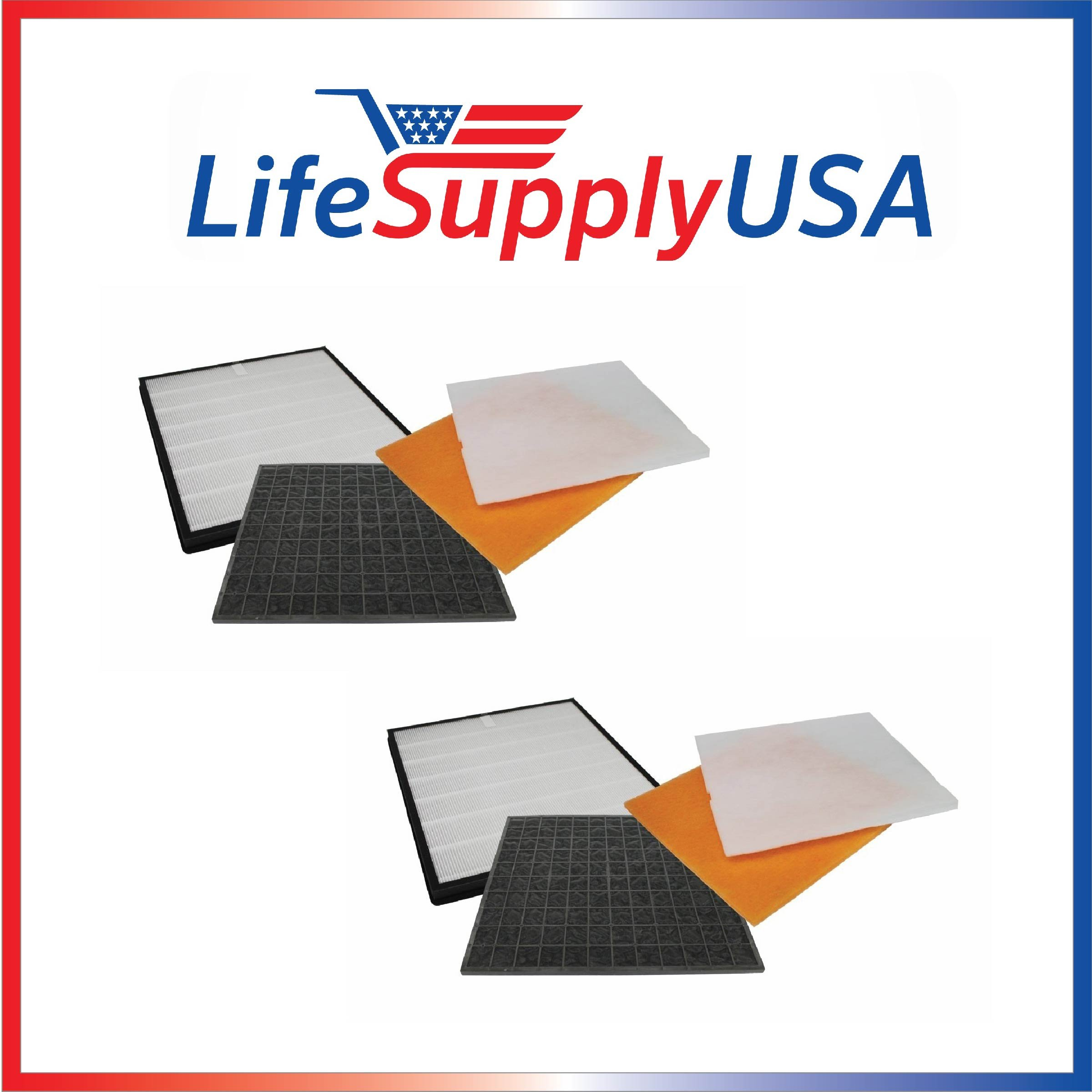 2 Pack Filter Kit Fits Rabbit Air Air Minus A2 SPA-780A & SPA-780A, by LifeSupplyUSA
