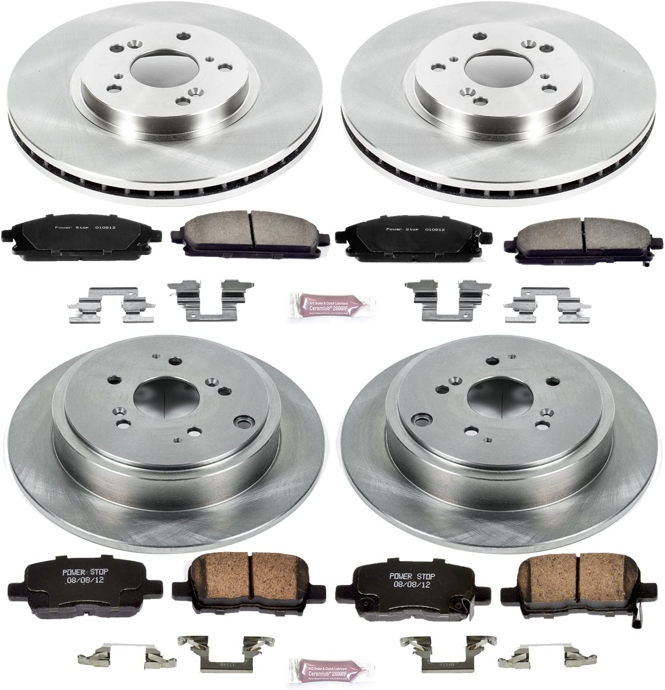 OE Replacement Rotors Ceramic Pads F 2003 2004 2005 2006 Acura MDX