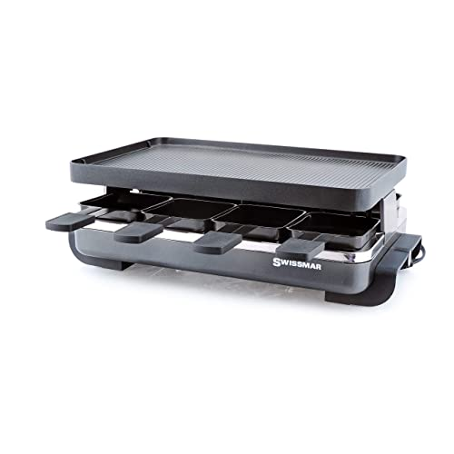 Swissmar Classic 8 Person Anthracite Raclette With Cast Aluminum Grill Plate