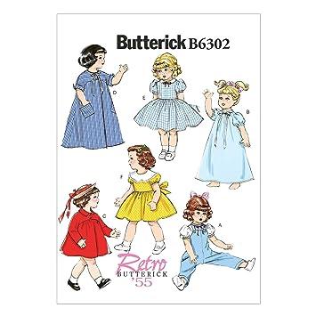 Butterick Schnittmuster 6302 OS 18 Puppenkleider Schnittmuster ...