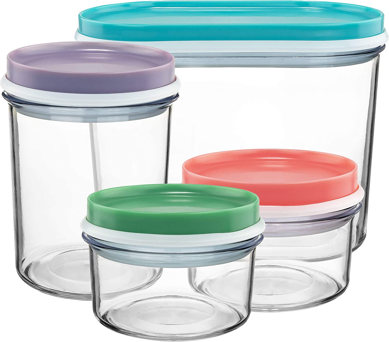 Nestable Food Storage Containers, Set of 4