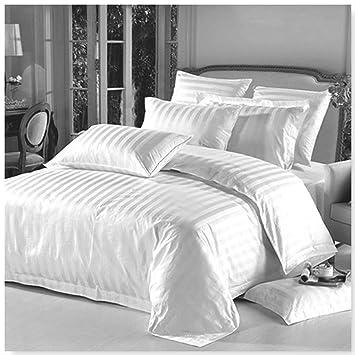 Woer Bettwäsche Satin Baumwolle Kissenbezug Bettgarnitur Bettbezug Grau135x200cm