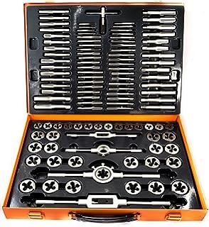 Kit Juego de machos y terrajas 110 piezas acero al tungsteno M2 M18-Caja metal