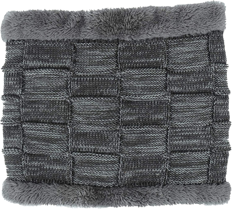 Bonvince Beanie Hat Scarf Set Thick Knit Hat Warm Fleece Lined Scarf Warm Winter Hat for Men /& Women