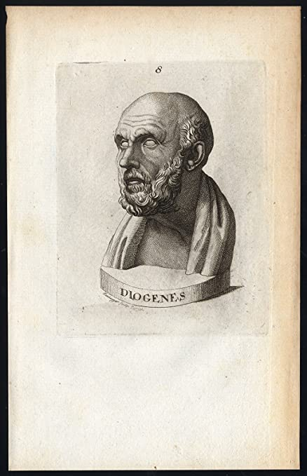 Amazoncom Antique Print Diogenes Of Sinope Cynic Heidegger