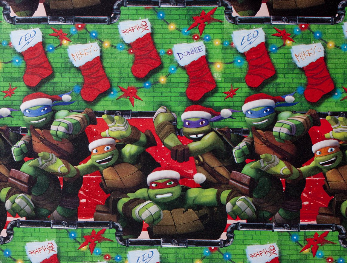 Amazon.com: Teenage Mutant Ninja Turtles Christmas Gift Wrap ...