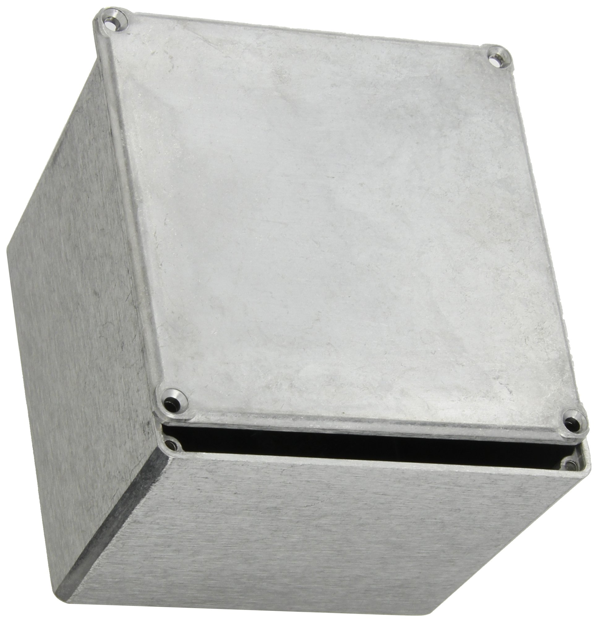 BUD Industries CU-475 Aluminum Econobox, 4-3/4'' Length x 4-3/4'' Width x 3-3/4'' Height, Natural Finish